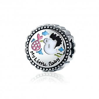 Sterling Silver Charm Baby Stork - 5444