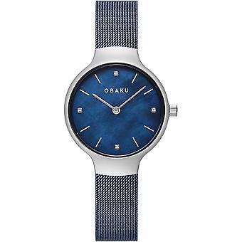 Obaku Vikke Arctic Women's Blue Wristwatch V241LXCLML