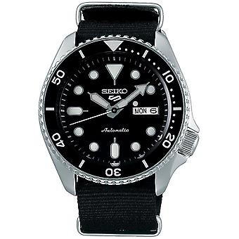 Seiko 5 Sports Stainless Steel Case Black Canvas Strap Automatic Men's Watch SRPD55K3