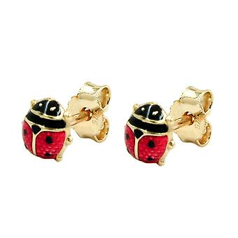 Fiche, coccinelle 5mm, or 9Kt