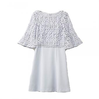 French Connection French Connection Whisper Ruth Lace Mix Dit Womens Dress