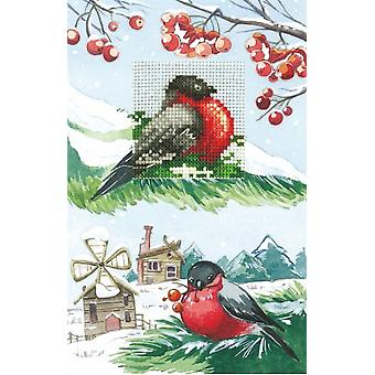Andriana Cross Stitch Card Kit - Bullfinches
