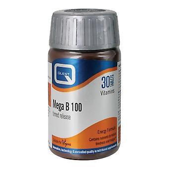 Quest Vitamins Mega B-100 Timed Release Tabs 30 (601219)