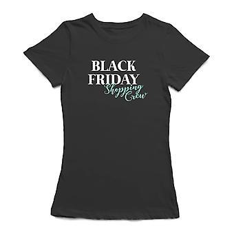 Black Friday Shopping Crew Women's Charcoal T-shirt