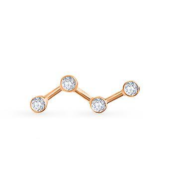 Cercei Cosmos 18K Aur și diamante (Single Piece)