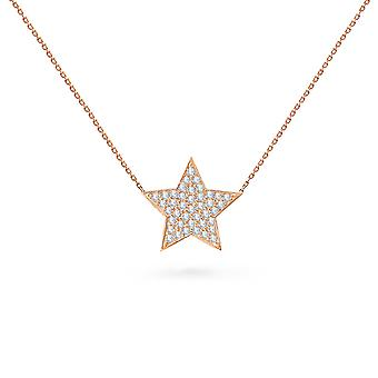 Baby Necklace Star 18K Ouro e Diamantes