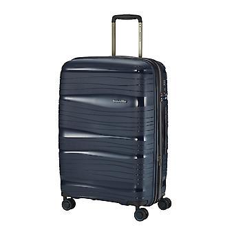travelite Motion Trolley M, 4 rouleaux, 67 cm, 71 L, Bleu