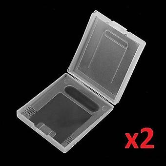 2x Game Card Case Holder Clear Box for Nintendo Gameboy Original Color Colour