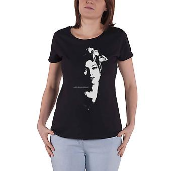 Amy Winehouse T Shirt Scarf Portrait Logo new Official Womens Skinny Fit Black