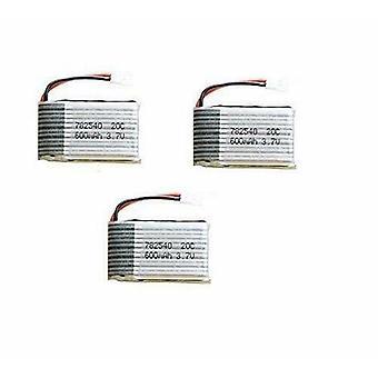 3 Pièces 3.7V 600mAh 25C Lipo Battery Pack X5 X5C X5C-1 X5SW X5SC X5SC-1 X5SC