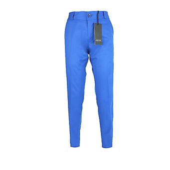 Designer Slim Fit Boys Blue Chino Trousers