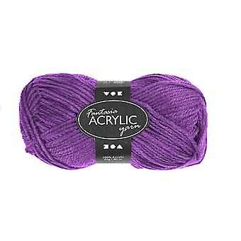 50g 3-Ply Purple Acrylic Yarn for Kids Knitting and Sewing Crafts