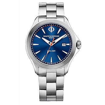 Baume & Mercier BM0A10413 Clifton Club Blue Dial Wristwatch