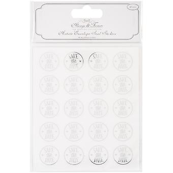Craft Consortium Acetate Envelope Seal Stickers - Save the Date