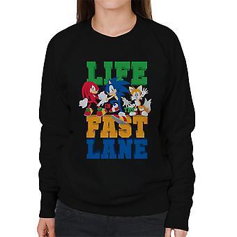 Sonic The Hedgehog Life In The Fast Lane Women's Sweatshirt
