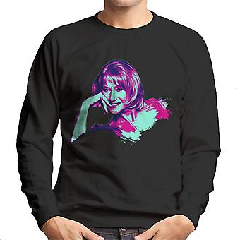TV Times Helen Mirren Pop Art Gestileerde Men's Sweatshirt
