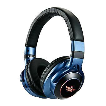 HANXI Wireless Headphones Bluetooth Wireless Headphones 3D Stereo Gaming Blue