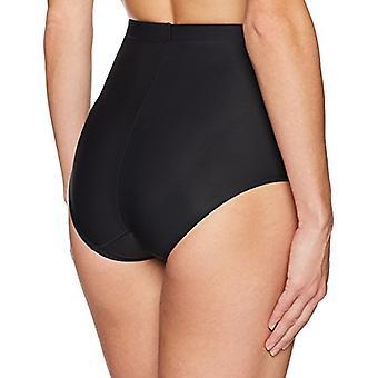 Merk - Arabella Women&s Matte Microfiber Shapewear Brief, Black, X-Large