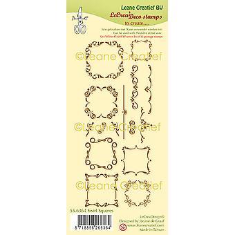 Leane Creatief Swirl Squares Klare frimærker