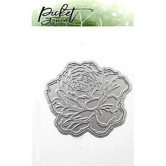 Picket Fence Studios Peony Foil y Cutting Die