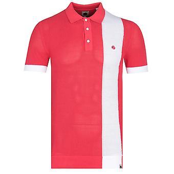 Camisa polo de malha vermelha de malha verde bonita verde