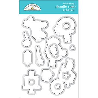 Doodlebug Design Syntymäpäivä Poika Doodle Leikkaukset
