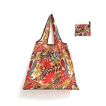 Reusable lady's shopping bag, foldable large eco-friendly tote bag with clear printing and dyeing pattern