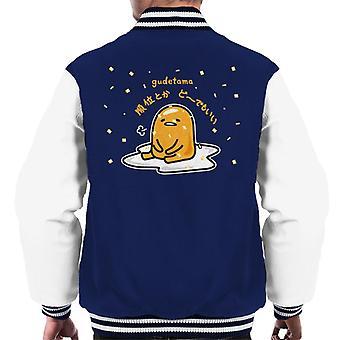 Gudetama Den siddende Egg Men's Varsity Jacket