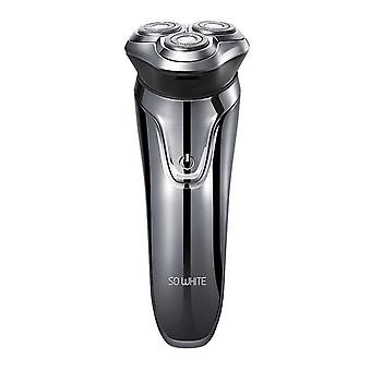 Electric Hair Shaver Razor 3 Cutter Head Dry Wet Shaving Smart Usb Rechargeable Waterproof