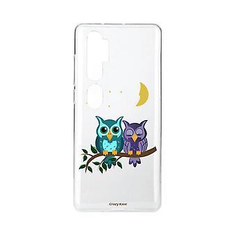 Coque Pour Xiaomi Mi Note 10 Souple Chouettes Au Clair De Lune