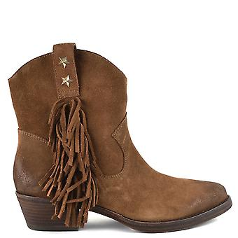 Ash INDY Fringed Boots Russet Suede
