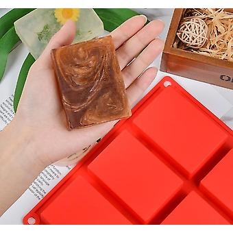 3d Plain Soap Mold 6 Cavity - Rectangle Diy Handmade Soap Form Tray Mould