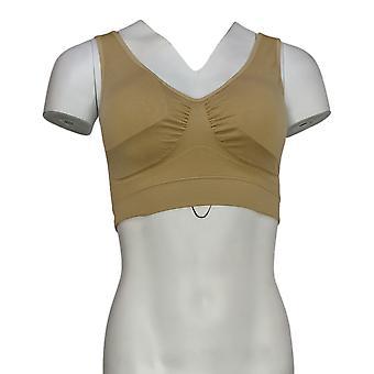 نورث ستايل سلك حمالة صدر الحرة مع الأشرطة واسعة عارية البيج حمالة صدر