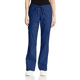 CHEROKEE Women's Workwear Core Stretch Drawstring Cargo Scrubs Pant, Navy, La...
