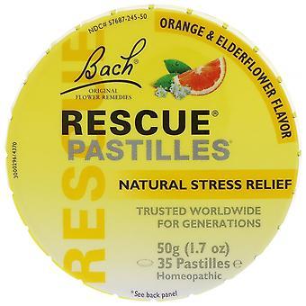 Bach, Original Flower Remedies, Rescue Pastilles, Natural Stress Relief, Orange