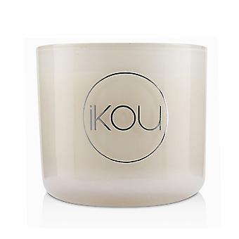 iKOU Eco-Luxury Aromacology Natural Wax Candle Glass - Joy (Australian White Flannel Flower) (2x2) inch