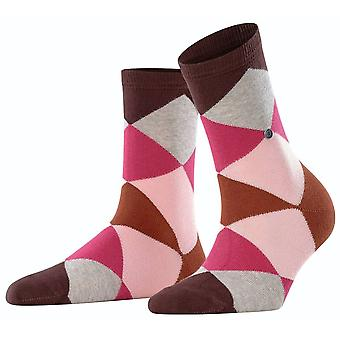 Burlington Bonnie Socks - Brunette Brown/Pink