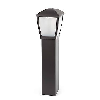 1 Light Outdoor Bollard Light Dark Grey IP44, E27