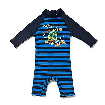 Bonverano Boy's All in One Swimsuit UPF 50+ Sun Protection SS Zip Sunsuit