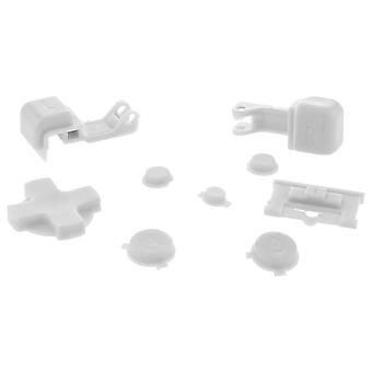 Zedlabz replacement button set for nintendo game boy advance sp gba handheld - white