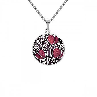 Sea Gems Mackintosh Necklace Leaves & Coils - Red 7741r