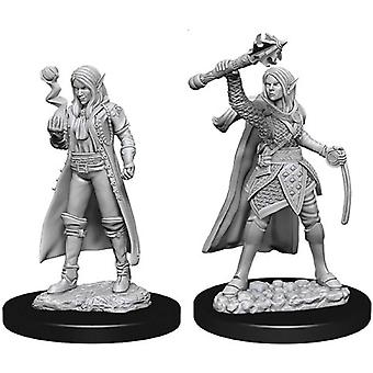 Dungeons & Dragons Nolzur's Unpainted Miniatures Female Elf Cleric (Pack of 6)