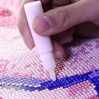 5pcs Diamant Malerei Kleber für Schule's, Handwerk Umweltschutz, weiß