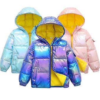 Filles, Veste d'hiver, Manteau en coton Down, Imperméable à l'eau, Manteaux à capuchon