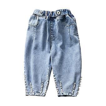 Pantalon en denim Pearl Design, pantalon ample