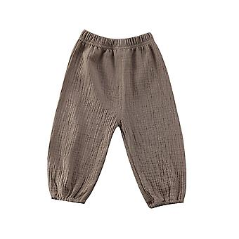 Baby Kids Girl Boy Bottoms Wrinkled Pantalettes Pants Loose Long Pant Clothing