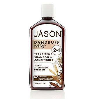 Jason Natural Products Dandruff Relief 2 in1 Shampoo Plus Conditioner, 12 OZ