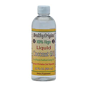 Healthy Origins 100% Virgin Liquid Coconut Oil, 20 Oz