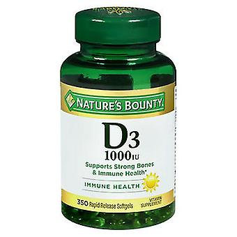 Nature's Bounty D3 Vitamin Supplement Softgels, 350 Softgels