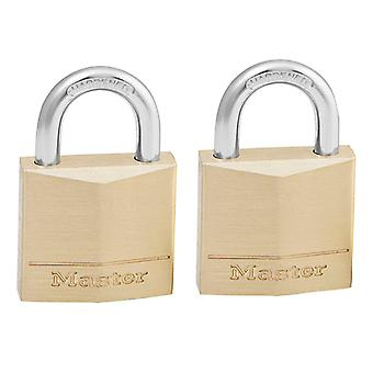 Master Lock Solid Messinki 30mm riippulukko 4-nastainen - Näppäiminen samanlainen x 2 MLK130T
